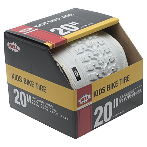 "Bell 7091034 Kids Bike Tire, 20"" x 1.75-2.25"", White"