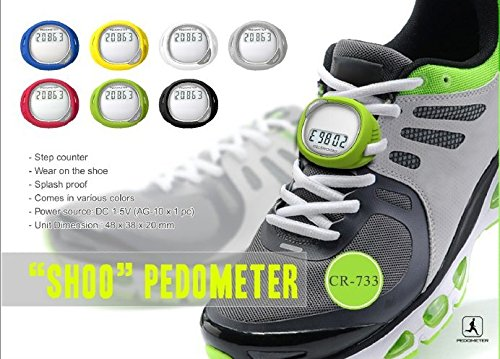Zuwit Walking Running Pace Step Counter Shoes Lace Pedometer