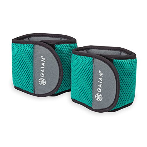 Gaiam Wrist Weights Strength Training Weight Sets For Women & Men With Adjustable Straps   Walking,
