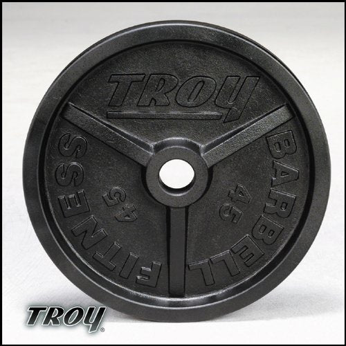 Troy Premium Wide Flanged Olympic Weight Plates - Black - 35 Pound - 1 Pair