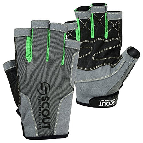 New Sailing Gloves Kayak Yachting Rope Dinghy Fishing Waterski Sports Dexter Series Green (Medium(7.5