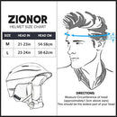 Image of Zionor H2 Ski Snowboard Helmet Certified Quality for Men Women with Ventilation Control and Comfortable Liner