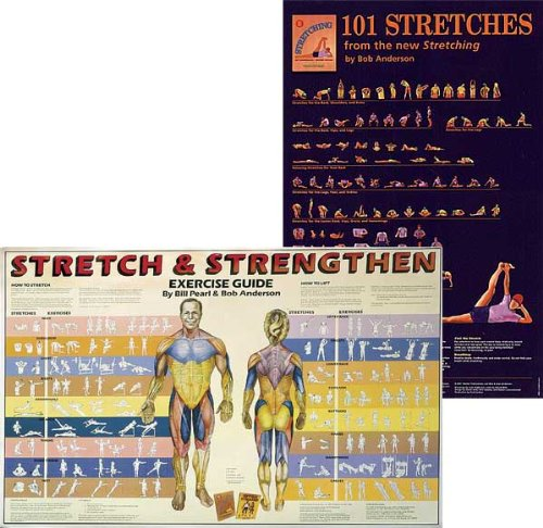 Shelter Publications Bundle   2 Items: Stretch & Strengthen Poster Plus 101 Stretches Poster