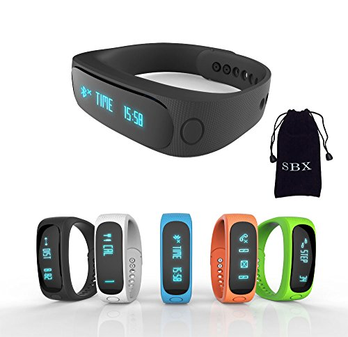 SBX Smart Sport Bluetooth Silicone Bracelet,Healthy Assistant Bluetooth 4.0 Sports Intelligent Weara