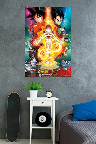 "Trends International Dragon Ball Z Res F Wall Poster 22.375"" x 34"""
