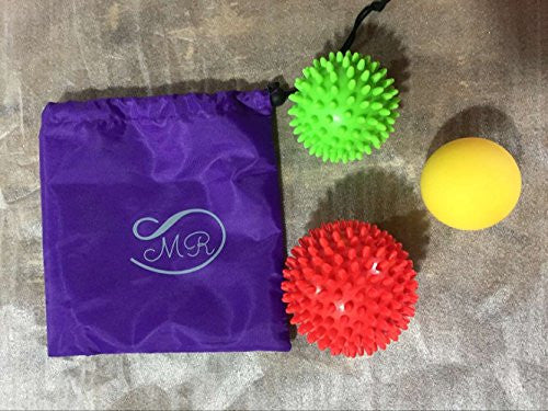 Massage Ball 3 Pack For Myofascial And Plantar Fasciitis Foot Pain Relief