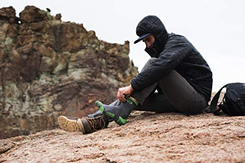 CloudLine Merino Wool Hiking & Athletic Crew Socks - Ultra Light Weight - X-Large Backcountry Blue - Made in the USA