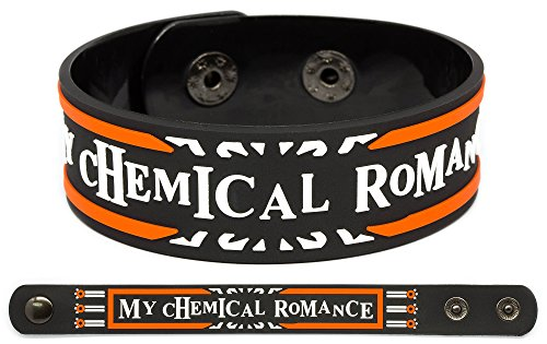 MY CHEMICAL ROMANCE Rubber Bracelet Wristband The Black Parade