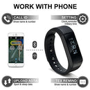 Image of Odoland Wireless Fitness Tracker With Ture Touch Screen, Auto Sleeping Smart Wristband For Android &