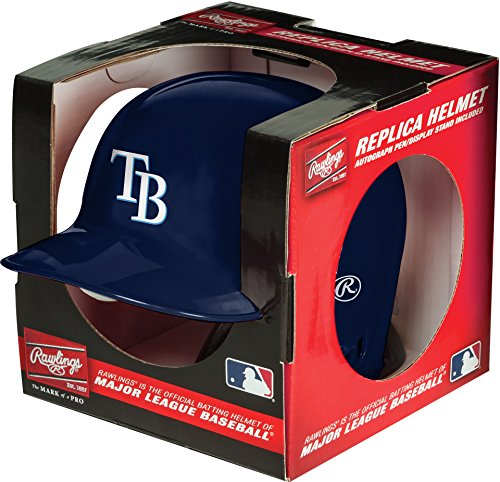 Rawlings Mlb Tampa Bay Rays Mini Replica Helmet, Blue