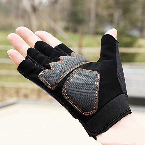 Comfspo Men's and Women'sAnti-Slip Shock-absorbing Breathable Hand Skeleton / Skull Pattern Full Fin