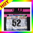 Image of Lightweight Running Number Belt Cycling Marathon Triathlon Race Mens Womens Pink