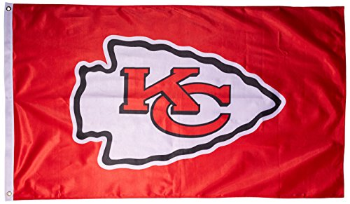 NFL Kansas City Chiefs Banner Flag, 3' x 5', Red