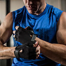 Image of Harbinger Power Non Wristwrap Weightlifting Gloves With Stretch Back Mesh And Leather Palm (Pair), Bl
