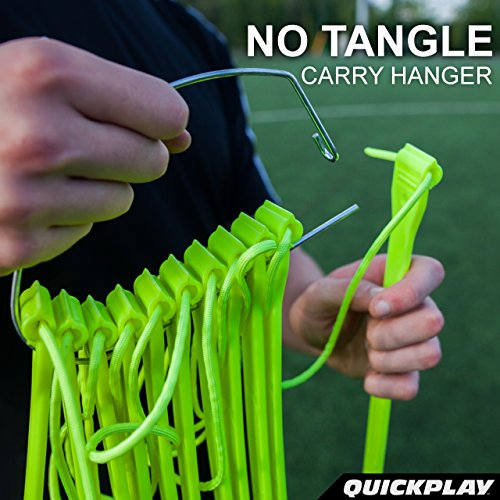Quick Play Pro No Tangle Agility Ladder With Quick Lock Adjustable Flat Rungs + Carry Bag (11 Rung) M