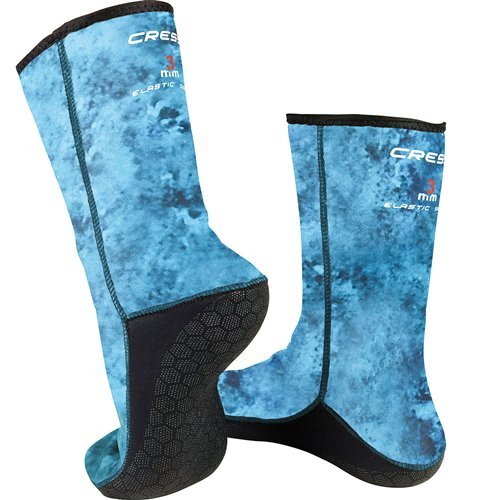 Cressi Anti-Slip Socks 3mm, blue hunter camo, L