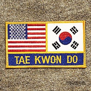 AWMA USA Korea Tae Kwon Do Patch by AWMA