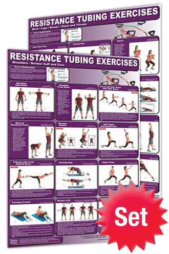 Productive Fitness CRT-Set Resistance Tubing Poster Set - Laminated only