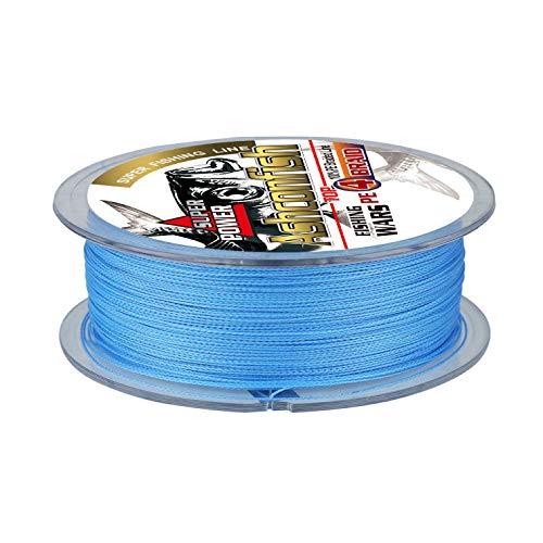 Ashconfish Braided Fishing Line-4 Strands Super Strong PE Fishing Wire 500M/546Yards Multifilament Fishing String Ultra Power Heavy Tensile for Saltwater & Freshwater Fishing 60LB-Blue