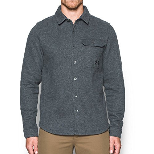Under Armour Men's Buckshot Fleece Shirt,Stealth Gray (008)/Black, Medium