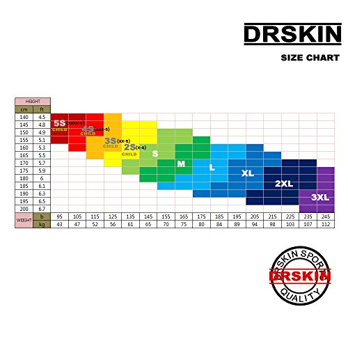 DRSKIN Undershirts Running Shirt Tank Tops Men's Cool Dry Compression Baselayer Sleeveless (STBL06, L)