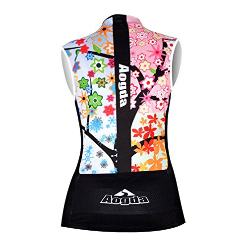 Cycling Jersey Women Aogda Bike Shirts Bicycle Bib Shorts Ladies Biking Pants Tights Clothing (S)