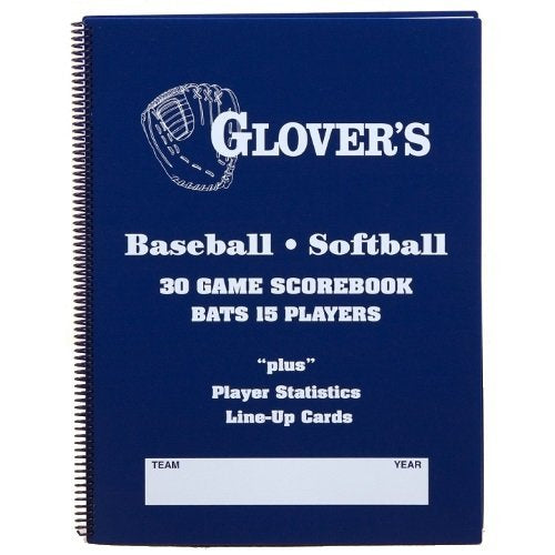 Glovers Scorebooks 9 to 15 Player Baseball/Softball Scorebook (30 Games) by Glover's Scorebooks