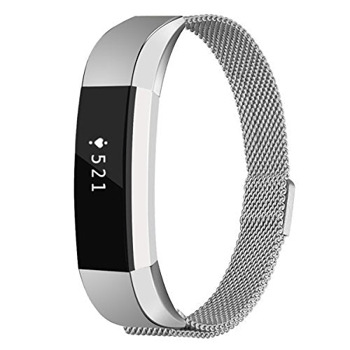 Fitbit Alta Bands Small,Fitbit Alta Fitness Tracker Bands,Abeky Stainless Steel Metal Replacement Ba