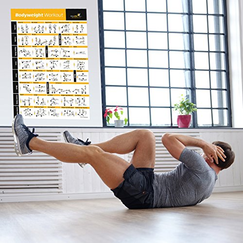 Bodyweight Exercise Poster   Total Body Workout   Personal Trainer Fitness Program   Home Gym Poster