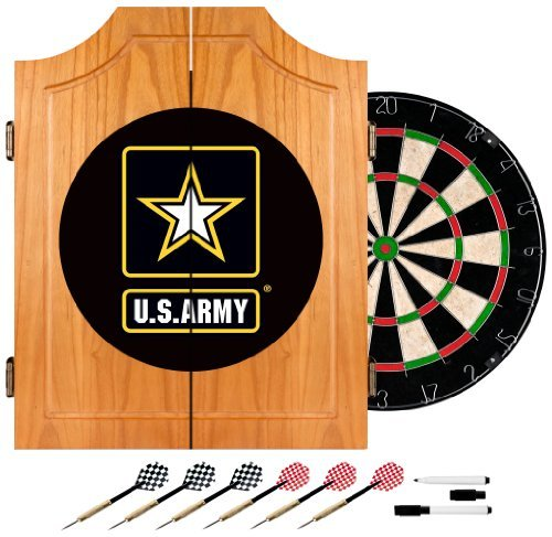 United States Army Wood Dart Cabinet Set by Trademark Gameroom