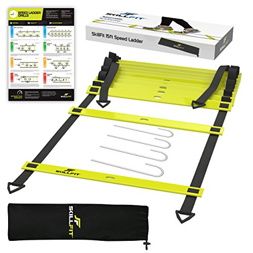 20ft Agility Ladder & Speed Cones Training Set   Exercise Workout Equipment To Boost Fitness & Incre