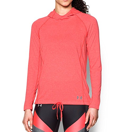 Under Armour Women's Threadborne Train Twist Hoodie,Marathon Red (963)/Steel, Medium