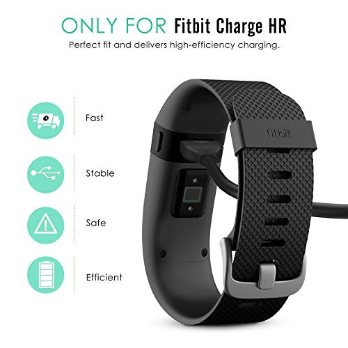 Mo Ko Fitbit Charge Hr Charging Cable, Replacement Usb Charger Charging Cable For Fitbit Charge Hr Wi