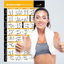 Image of Bodyweight Exercise Poster   Total Body Workout   Personal Trainer Fitness Program   Home Gym Poster