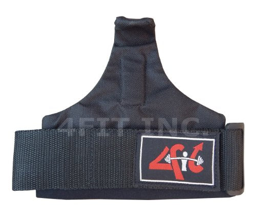 4Fit Basic Power Weight Lifting Bar Hook Straps Supports Gym Training Fist Wraps