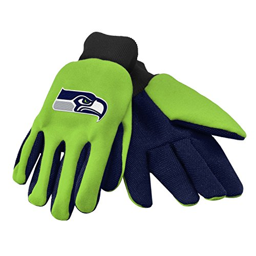 NFL Sports fan sport utility work gloves (Seattle Seahawks Lime Green/Navy)