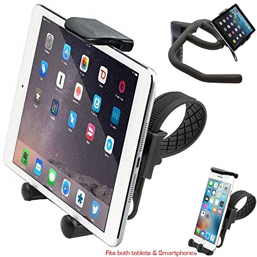 Charger City Hdx2 Strap Lock Mount For In Door Bicycle Treadmill Exercise Spin Bike Helm W/Tablet Smar