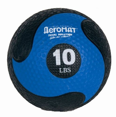 Deluxe Medicine Ball Color: 10lbs Black / Blue, Size: 9