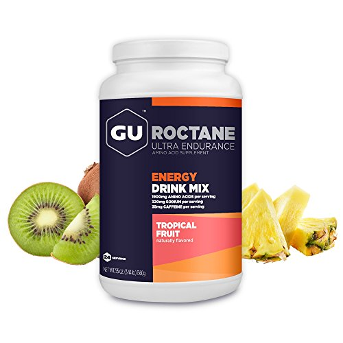 Gu Energy Roctane Ultra Endurance Energy Drink Mix, Tropical Fruit, 3.44 Pound Jar