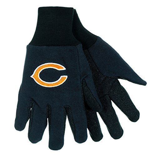 NFL Football Multi Color Team Logo Sport Gloves - Pick Team (Chicago Bears (C Logo))