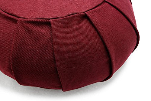 Natural Color Buckwheat Hull Filled Zafu & Cotton Batting Fill Zabuton Meditation Cushion Yoga Pillo