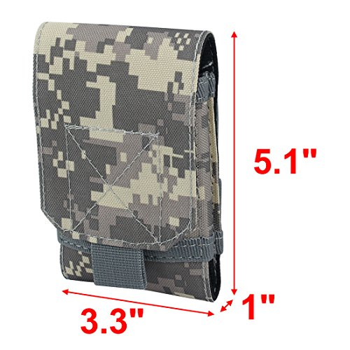 uxcell Nylon Outdoor Sports Unisex Pouch Cover Phone Belt Bag ACU Color
