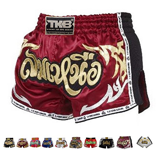Top King Boxing Muay Thai Shorts Normal Or Retro Style Size S, M, L, Xl, 3 L, 4 L (Retro Red 2 Xl)