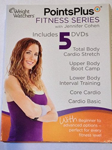 Weight Watchers Points Plus Fitness Series 5 Dvd Set