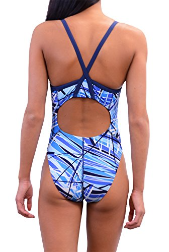 Adoretex Girls/Womens Pro One Piece Athletic Swimsuit Fn031 U Sky Blue 36