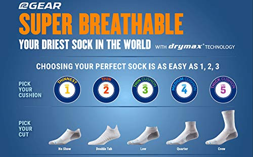Drymax Low Cut Running Socks For Men And Women (3 Pairs) | Super Breathable Performance Keep Feet Dr