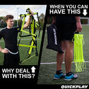 Image of Quick Play Pro No Tangle Agility Ladder With Quick Lock Adjustable Flat Rungs + Carry Bag (11 Rung) M