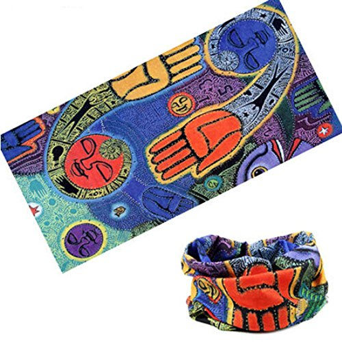 Cycling Headband Thick Absorbent Head Wrap Face Shield Scarves (Abstraction)