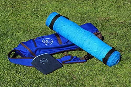 G3 Elite Yoga Set, Combo Starter Kit Includes   Yoga Mat, Bag, Sling Strap, Plus Hand Towel (Blue Mix