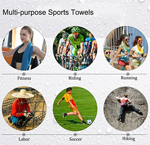 Kin Hwa Microfiber Workout Towel For Men Women Fast Drying Sweat Towel For Gym Lightweight Sport Fitn